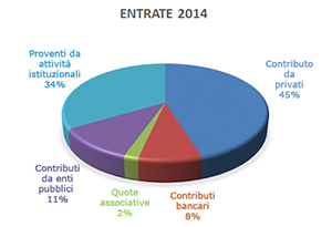 Grafico entrate 2014 O.N.L.U.S. Lenci
